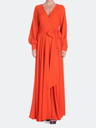 LilyPad Maxi Dress - Flame: image 1