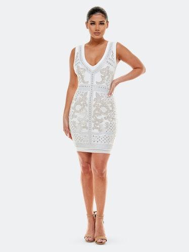 Embellished Mini Dress: image 1