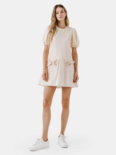 Pockets Detail Mini Dress: image 1