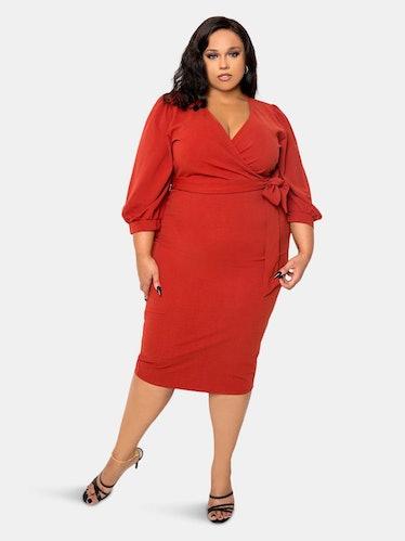 Everyday Wrap Midi Dress: image 1