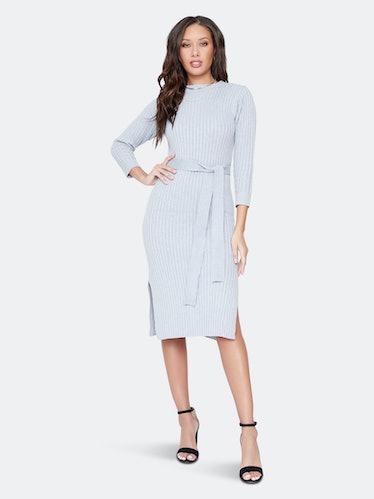 Traveler Cognac Midi Dress: image 1
