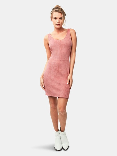 Justine Vegan Leather Dress: image 1