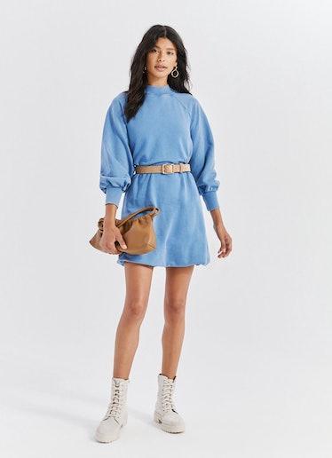 Mockneck Sweatshirt Dress: image 1