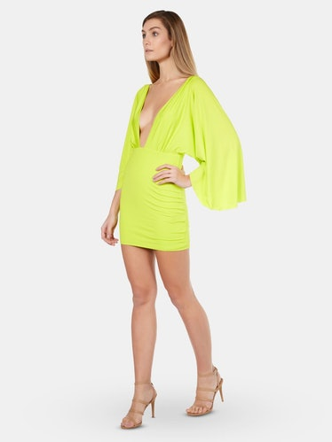Plunge Wing Jersey Dress: image 1