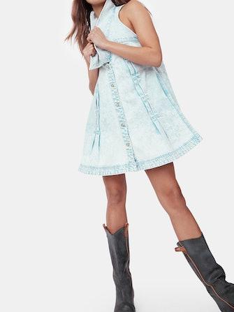 Katie Denim Sleeveless Dress: image 1