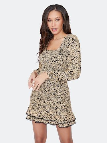 Pick Me Golden Hour Mini Dress: image 1