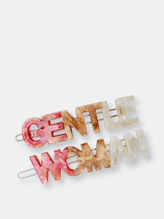 Gentlewoman's Agreement™ Hair Clip Set in Coral: image 1