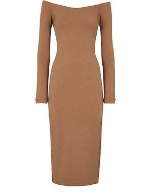 Brown jersey dress: image 1