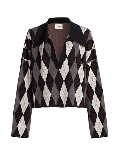 Noelle Argyle Collar Sweater: image 1