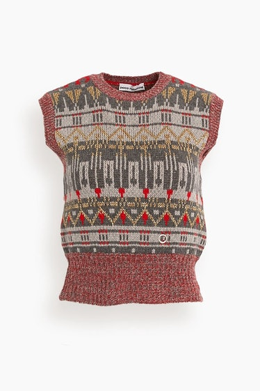 Knitted Vest in Rouge Nordique: image 1