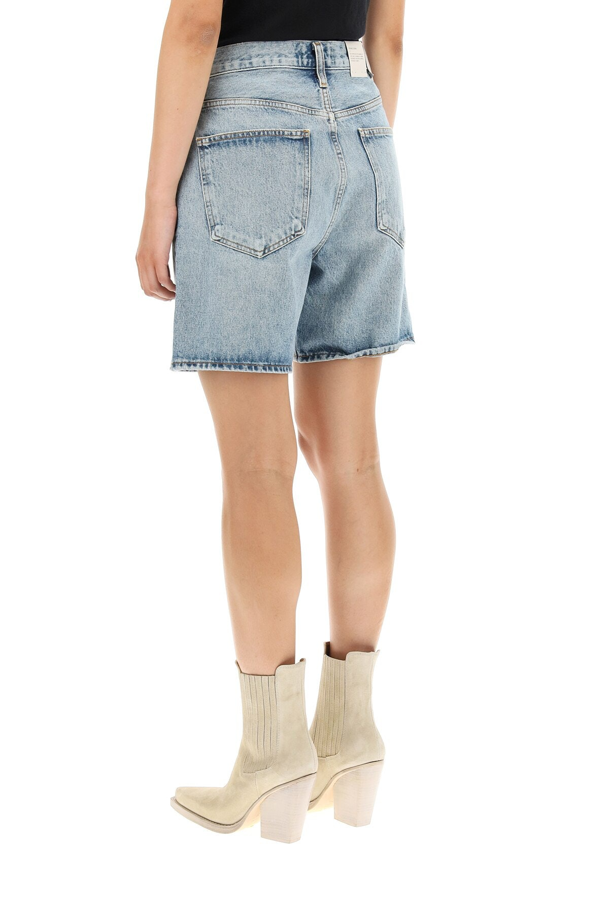 Agolde Criss Cross Denim Shorts: additional image