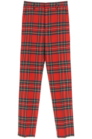 Red Valentino Plaid Wool Trousers: image 1