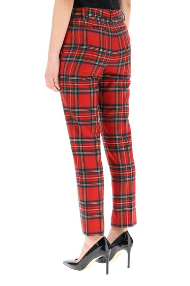 Red Valentino Plaid Wool Trousers: additional image