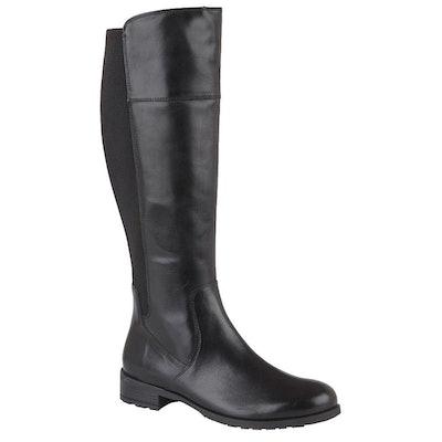 Cipriata Womens/Ladies Silvia Leather High Leg Boots (Black): image 1