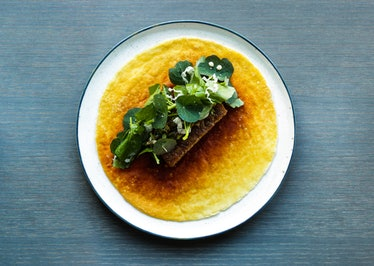 108 caramelized milkskin with grilled pork belly and spicy herbs.jpg