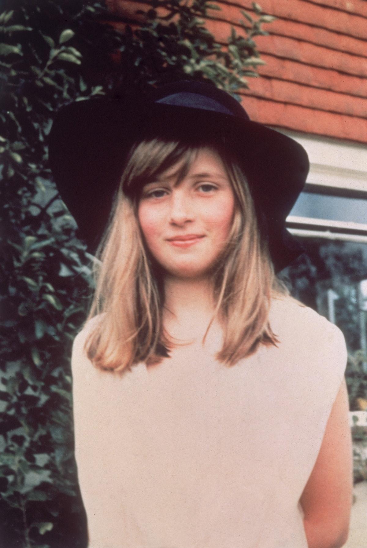 A young Princess Diana