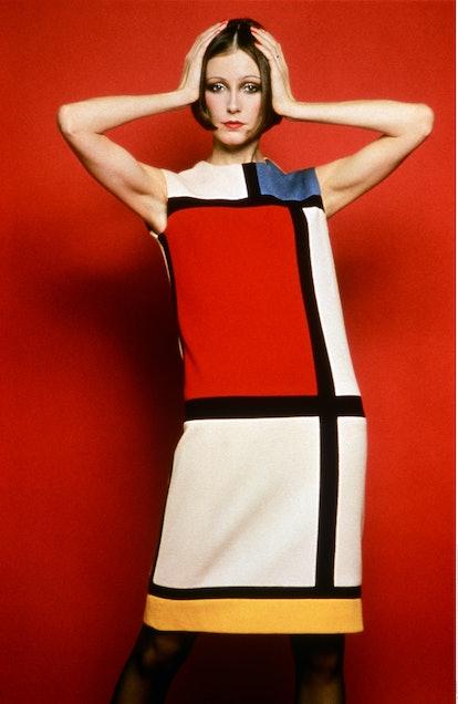 Cocktail dress worn by Susan Moncur_homage to Piet Mondrian_FW 65.jpg