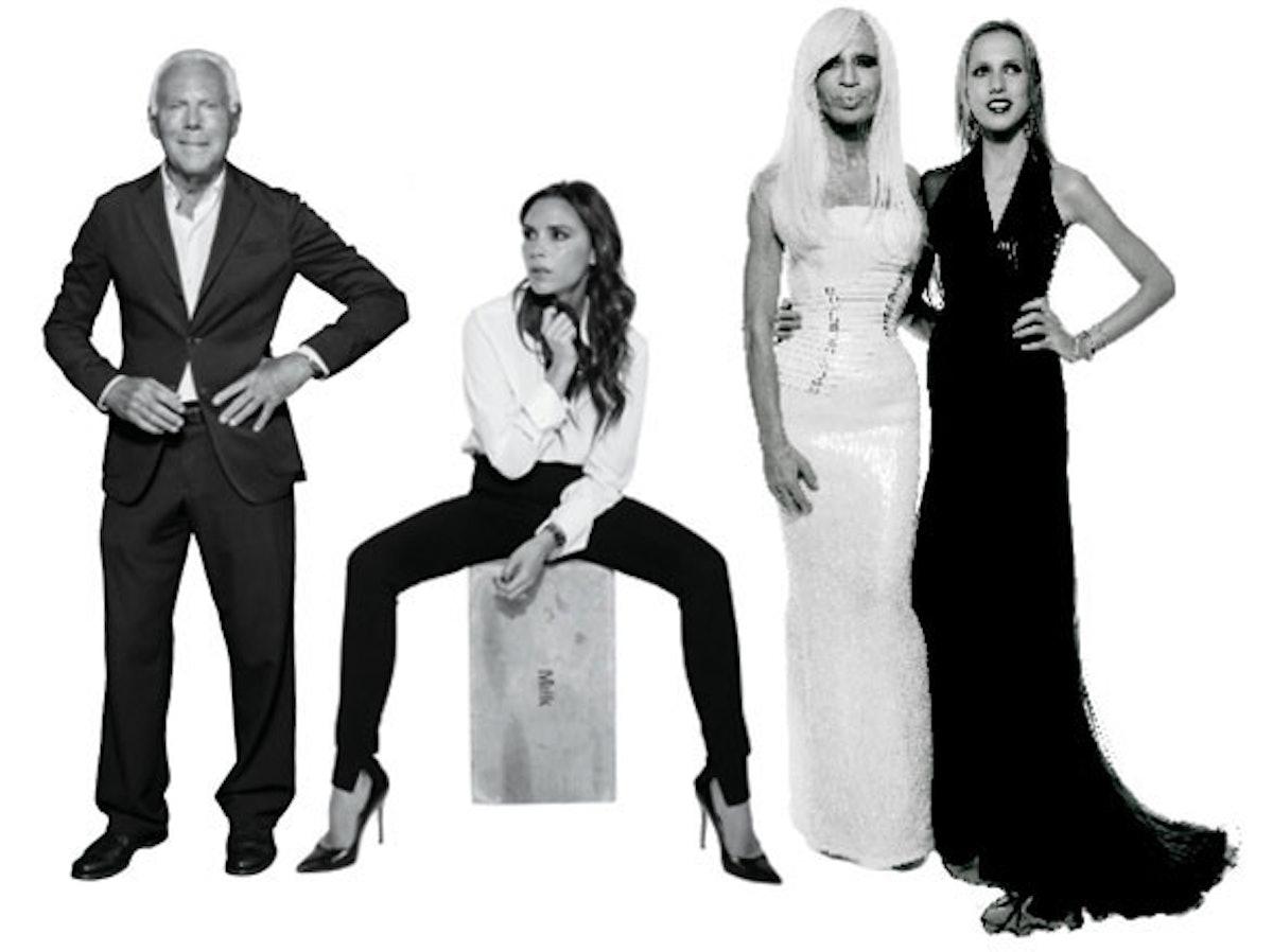 Allegra Versace, Victoria Beckham,