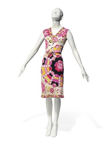 Emilio Pucci sleeveless summer dress of silk jersey (estimate £250 – 350)