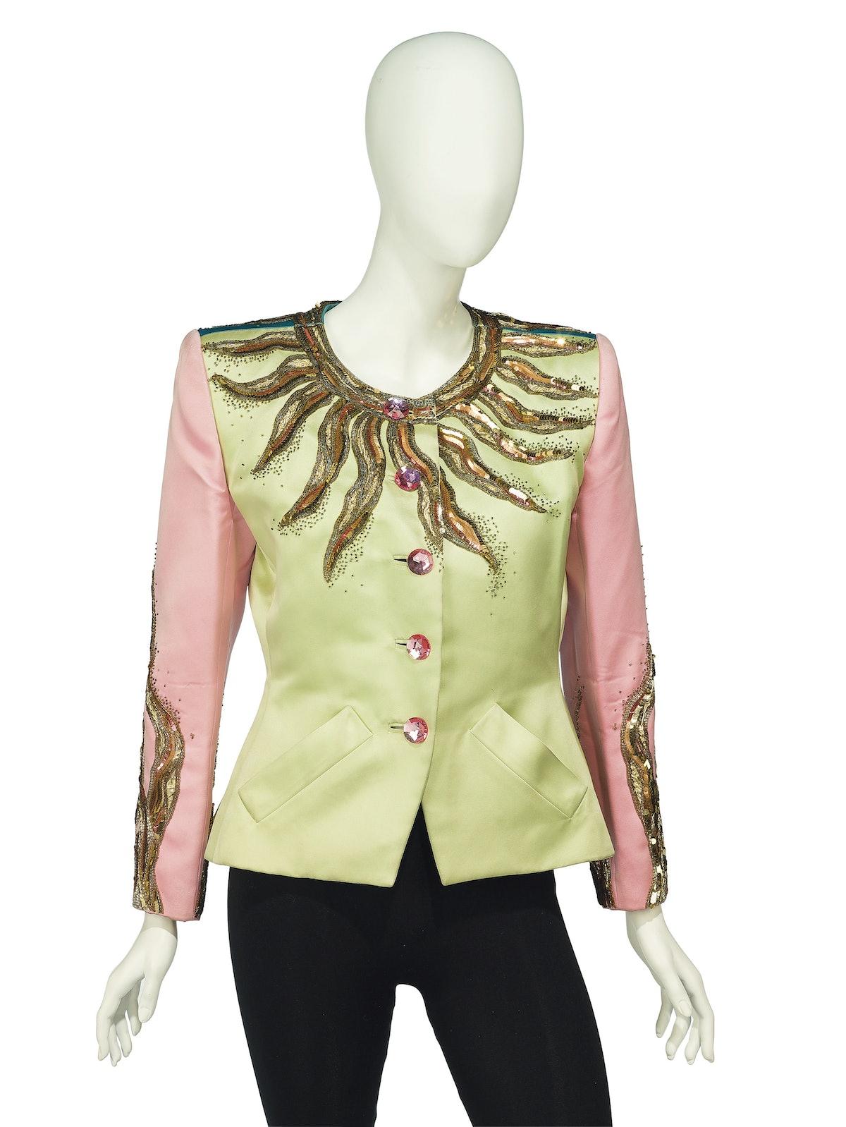 YSL embroidered cocktail jacket (estimate £1,000-2,000)