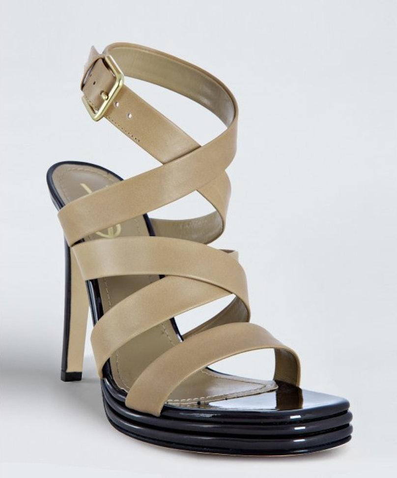 YSL Leather Strap Sandals
