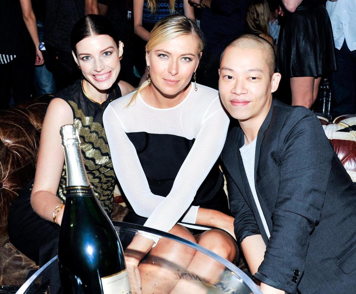Jessica Pare, Maria Sharapova, and Jason Wu