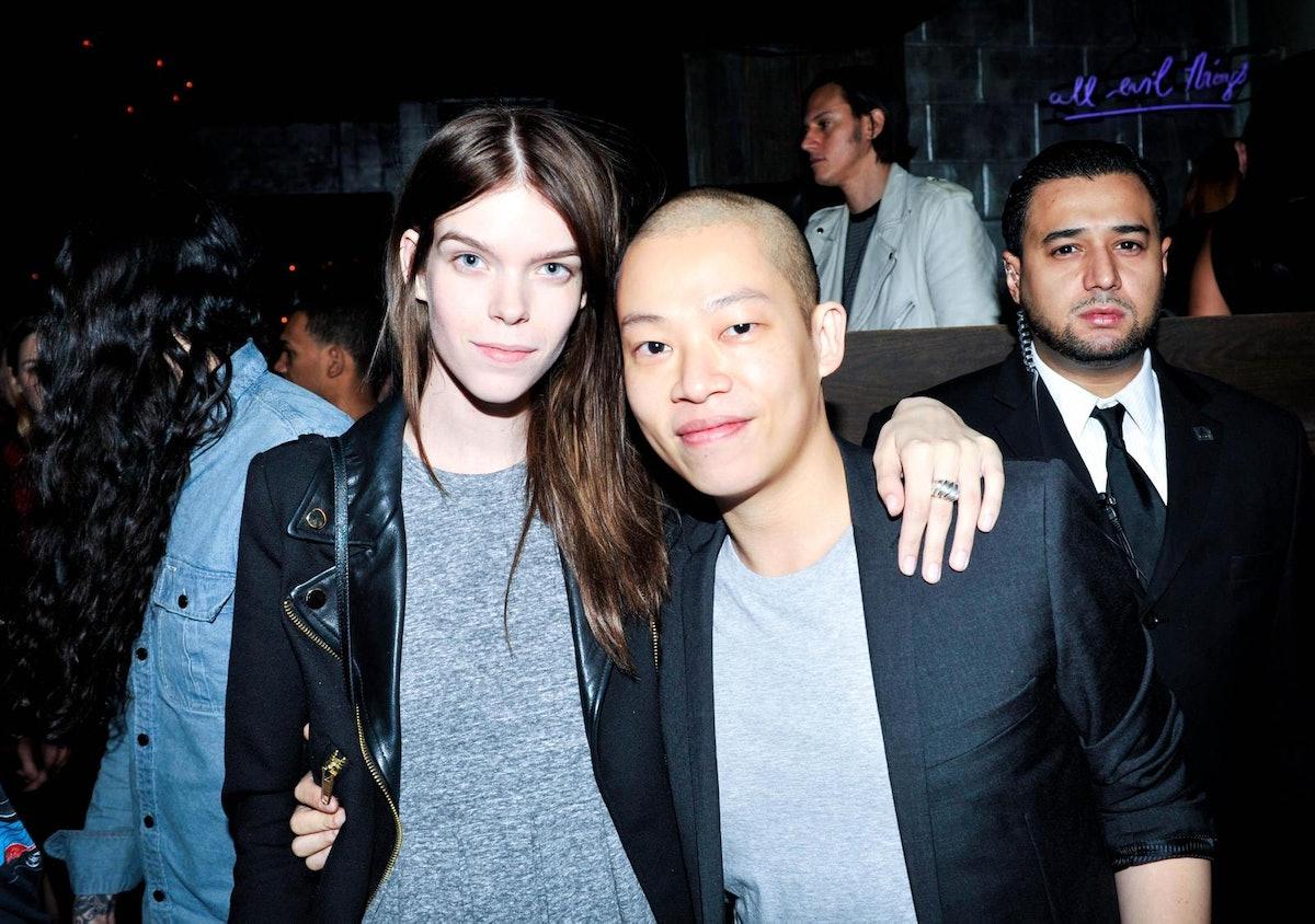 Meghan Collison and Jason Wu