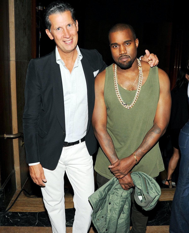 Stefano Tonchi and Kanye West