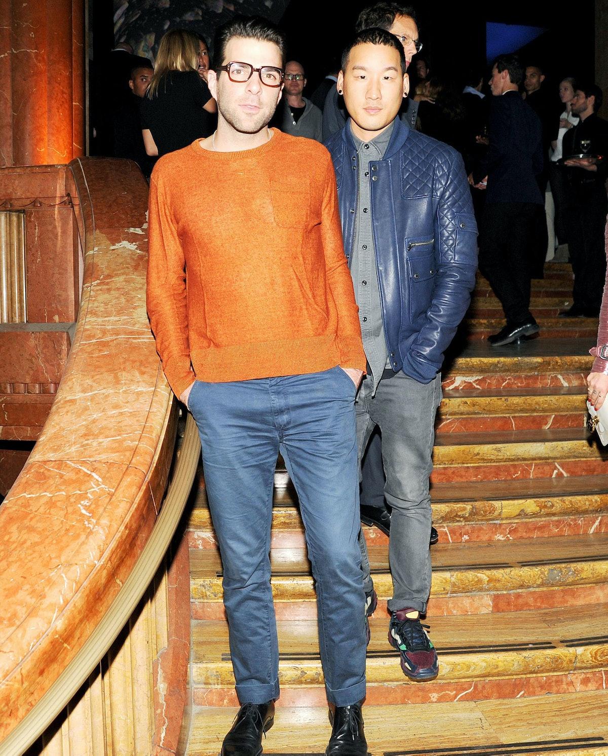 Zachary Quinto and Richard Chai