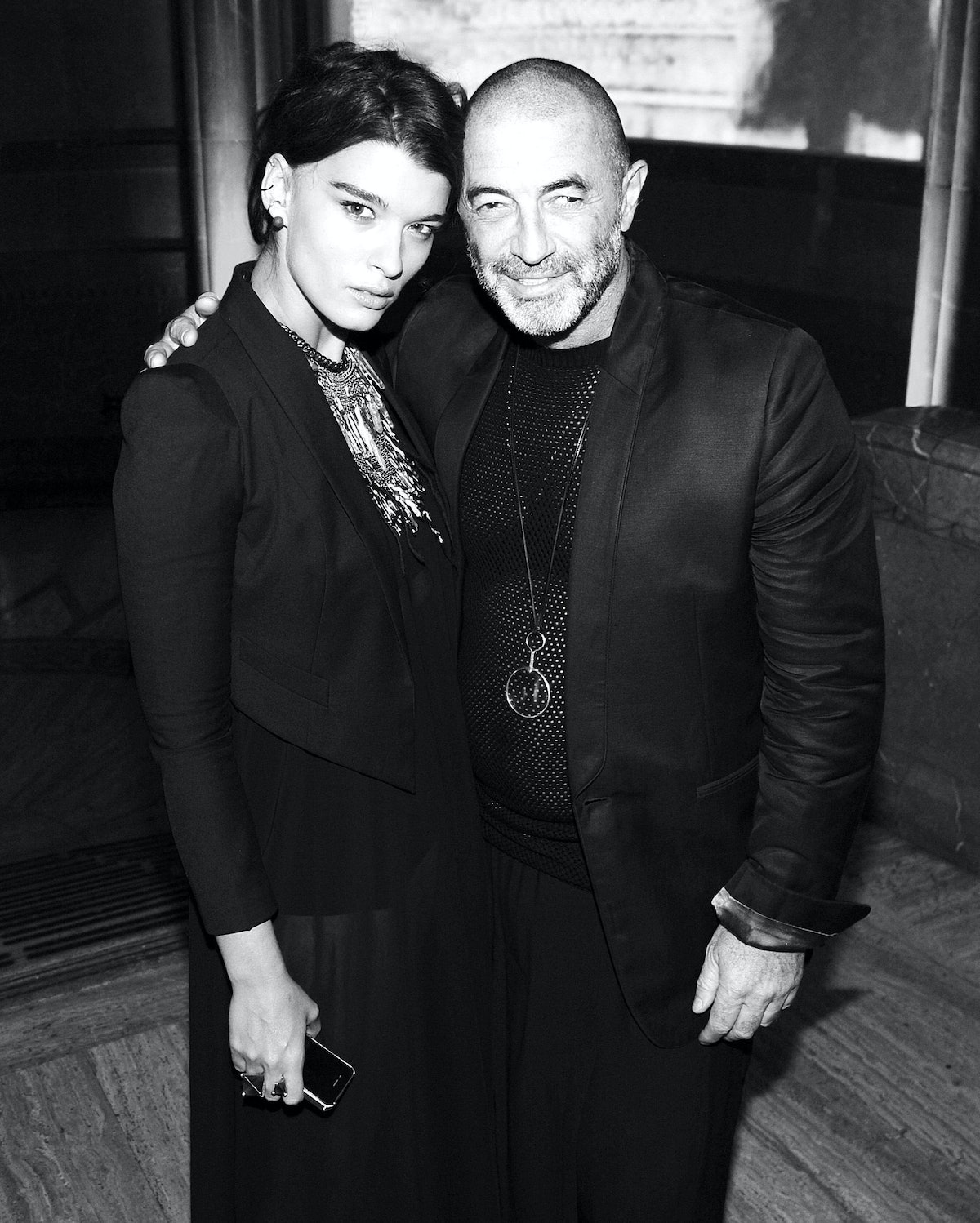 Crystal Renn and Etienne Russo