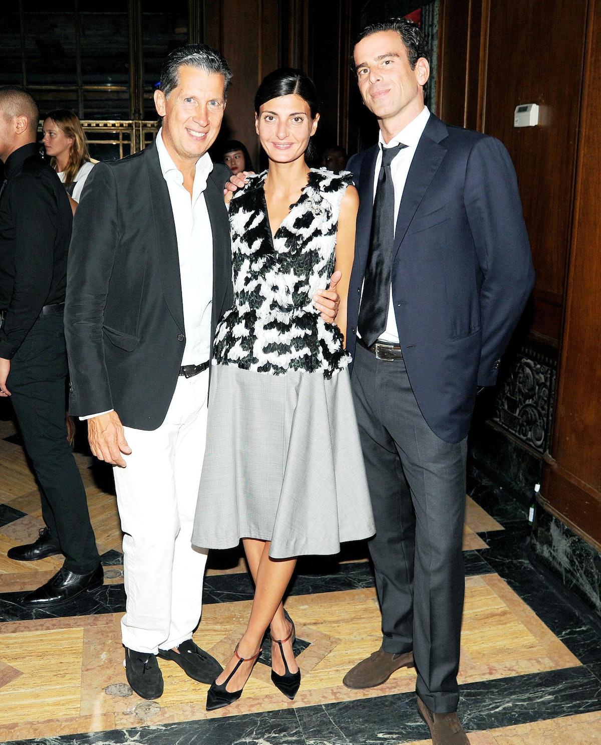 Stefano Tonchi, Giovanna Battaglia, and Chris Brainard