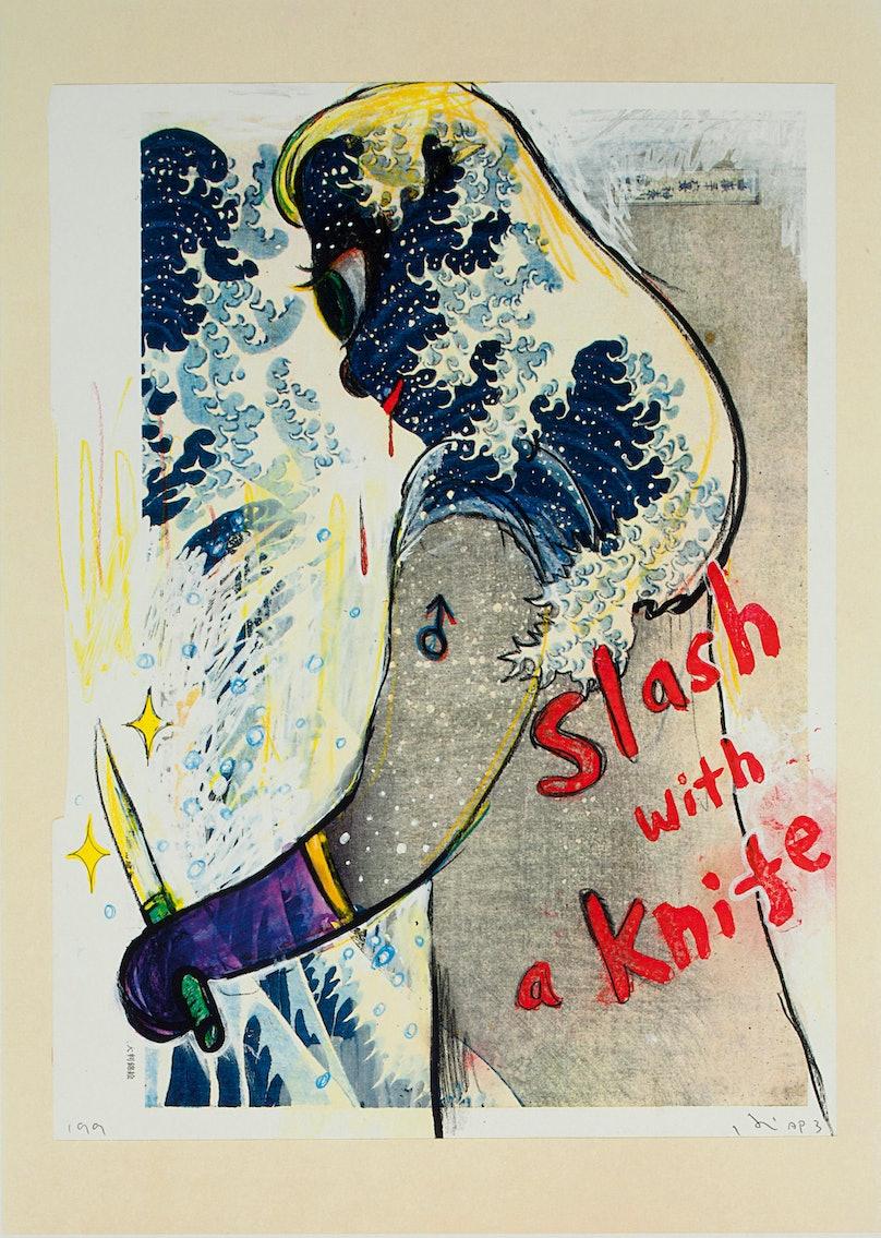 Yoshitomo-Nara_Slash-With-a-Knife