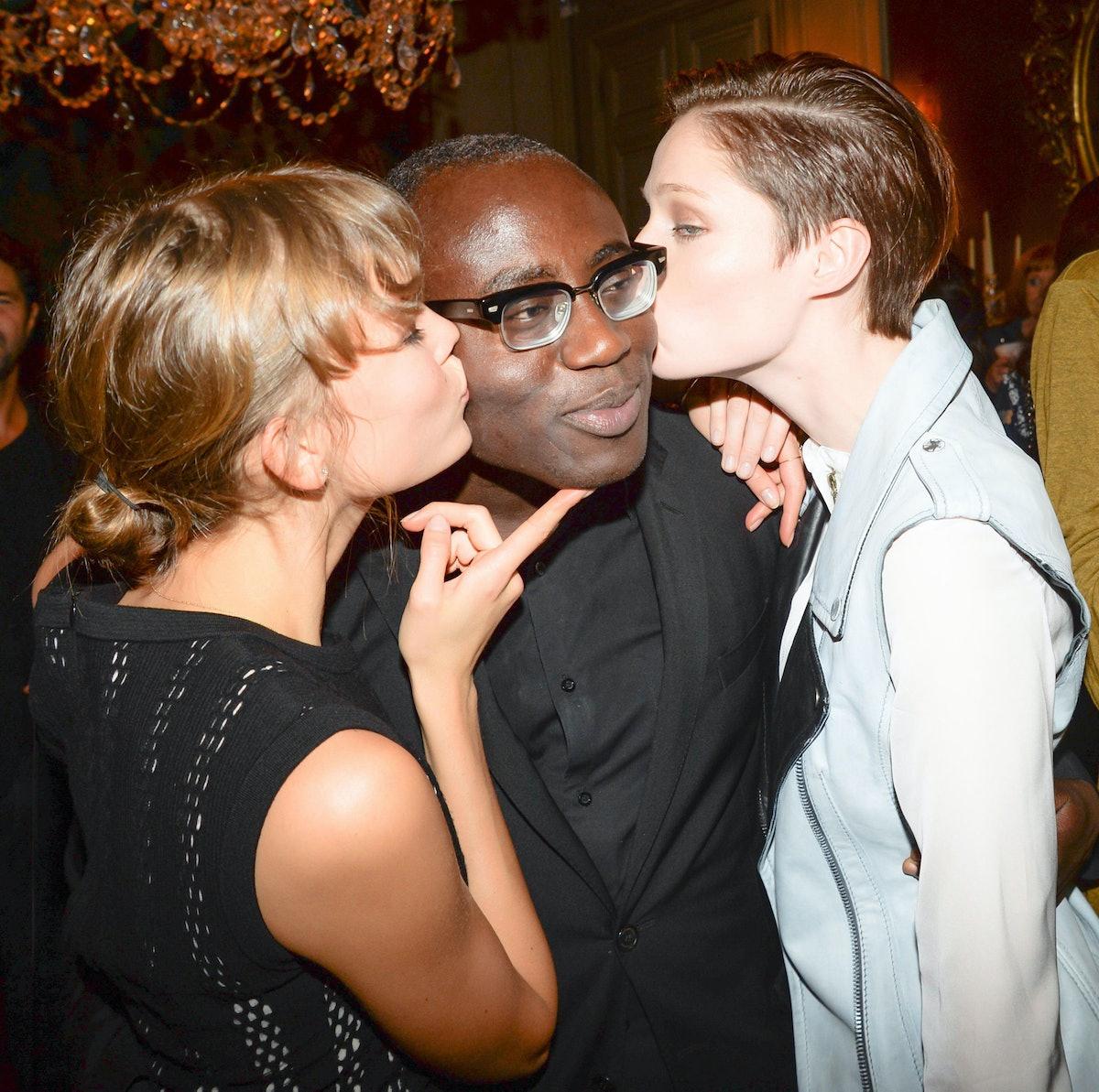Karlie Kloss, Edward Enninful, and Coco Rocha. Photo by BFAnyc.com.