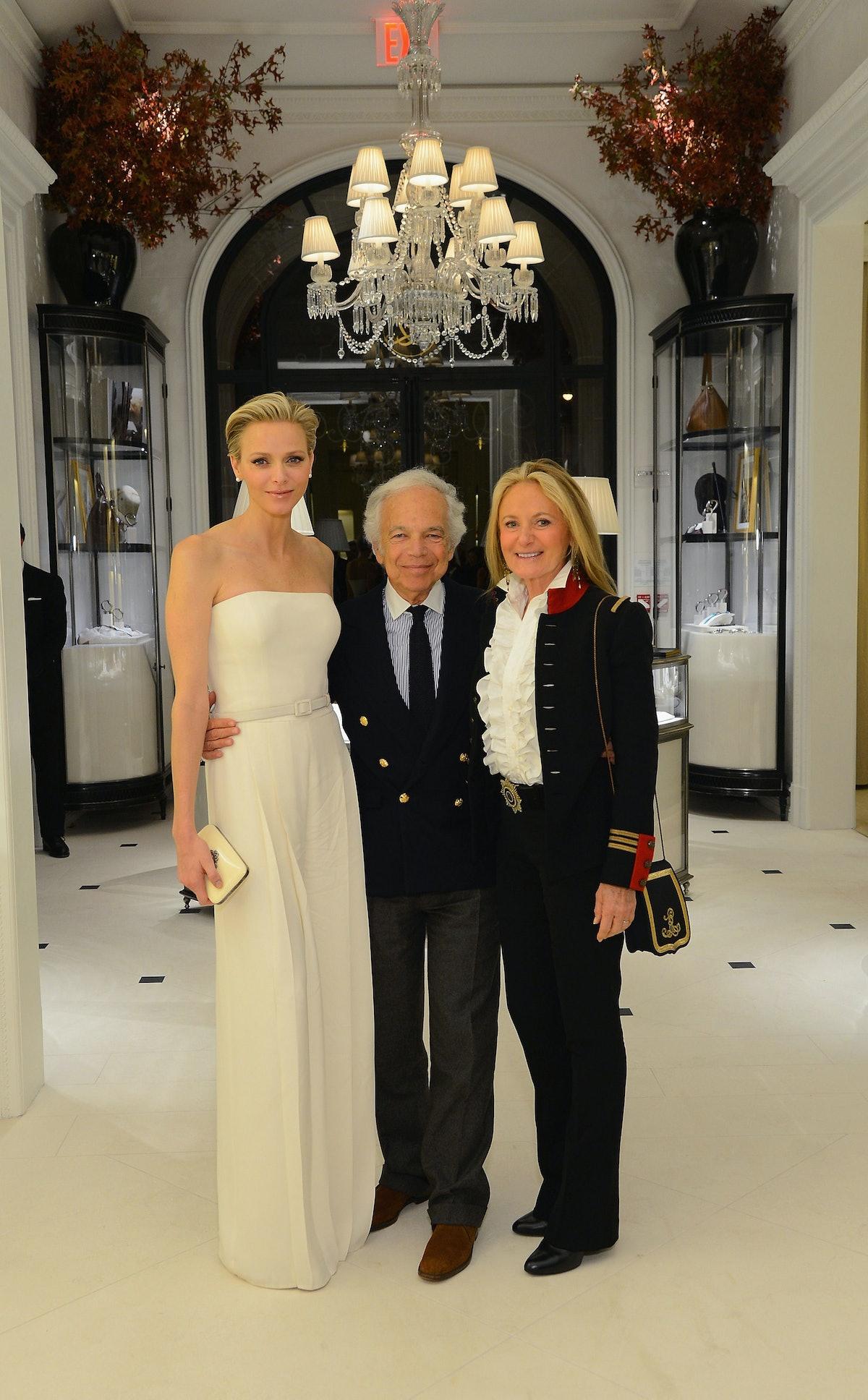 Princess Charlene of Monaco, Ralph Lauren, and Ricky Lauren