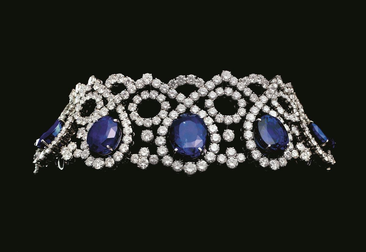 Sapphire and diamond choker, 1975. Design by Alexandre Reza. Courtesy of Alexandre Reza.