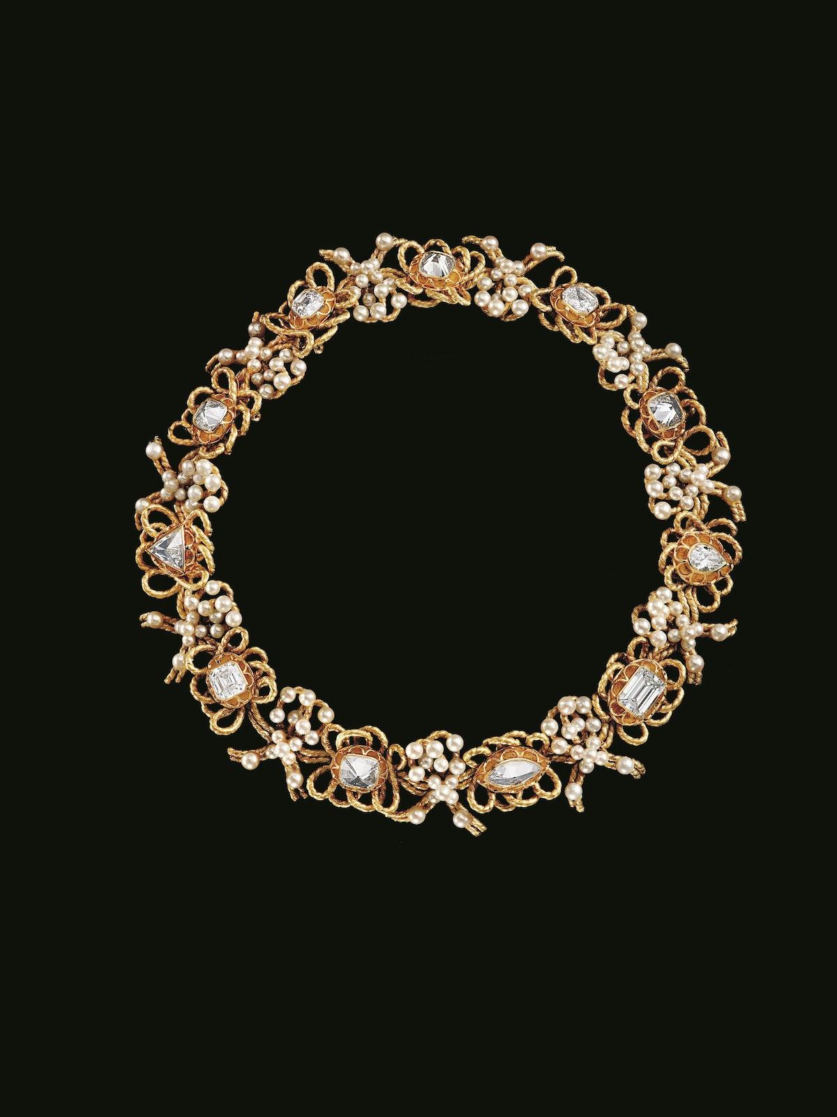 """Le Carcan"" gold and diamond necklace, 1983. Design by Alexandre Reza. Courtesy of Alexandre Reza."