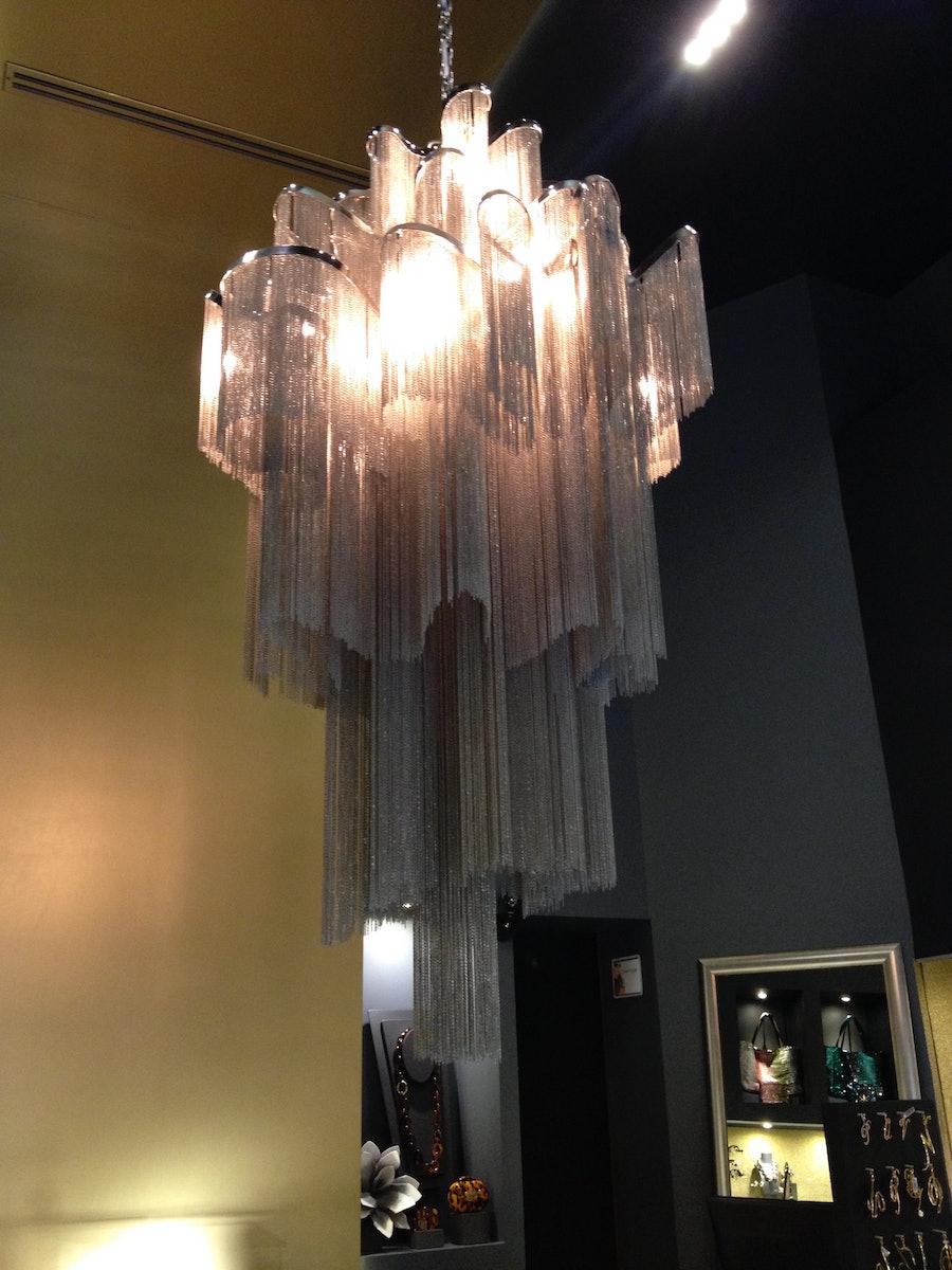 Store chandelier