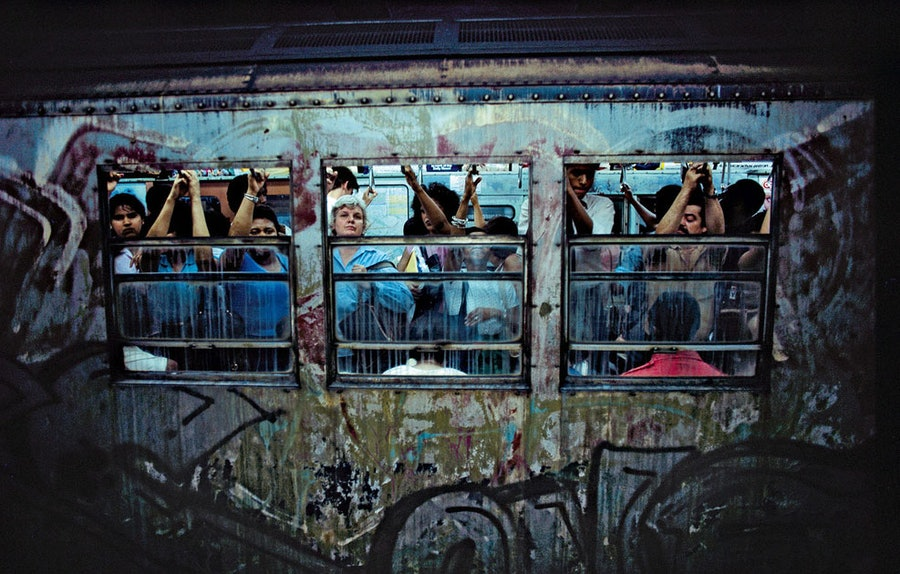 """Subway, New York City, 1980"" by Bruce Davidson"