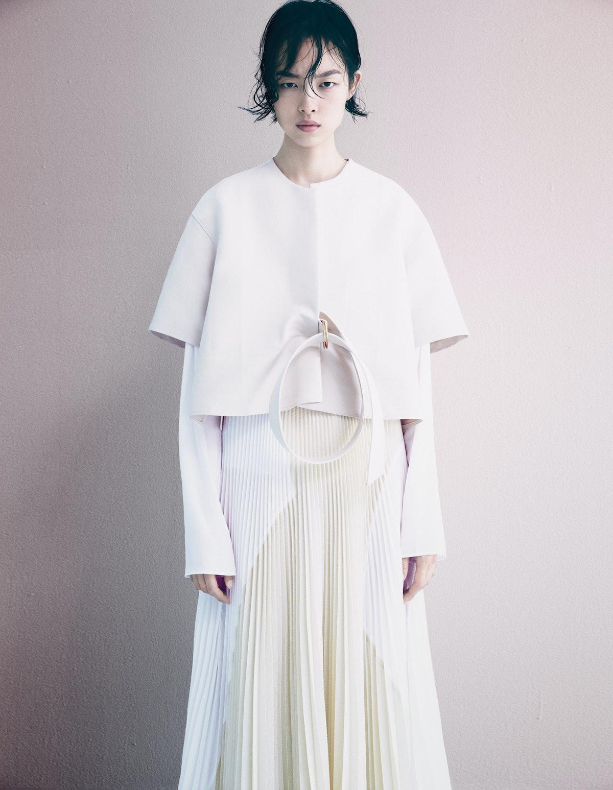 Calvin Klein Collection top; Maison Martin Margiela long-sleeve top;