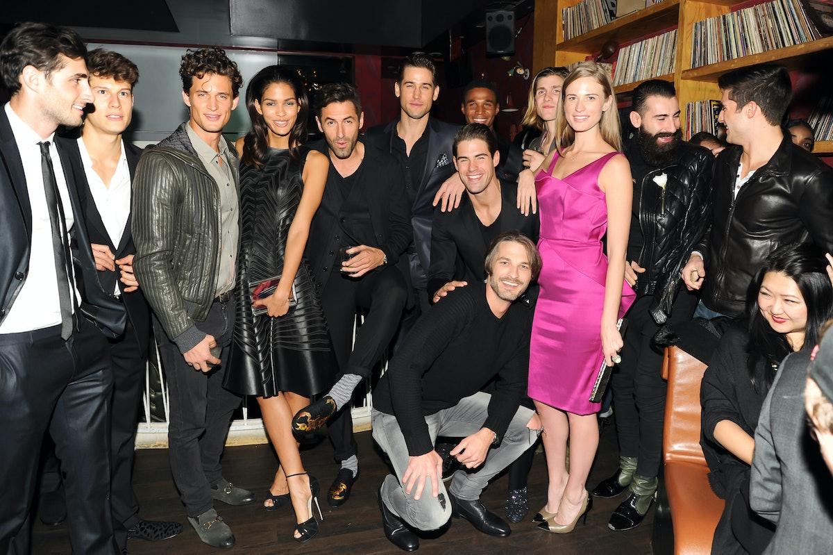 Julie Henderson amongst the models.