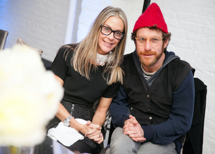 Sue Hostetler and Dustin Yellin