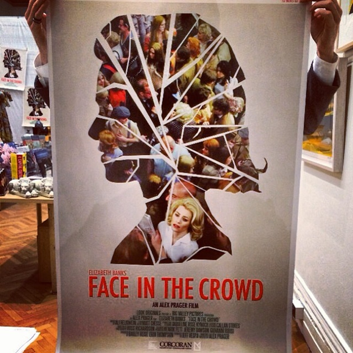 The 'Face in the Crowd' poster design by Mustaa Luntaa at the Corcoran Gallery