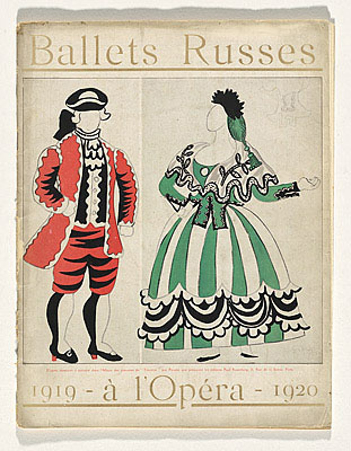 Serge Diaghilev Ballets Russes production of Le Tricorne [above], with costumes and sets designed by...