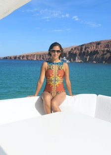 IMG_1577Karla Martinez de Salas on a boat in the Sea of Cortez.