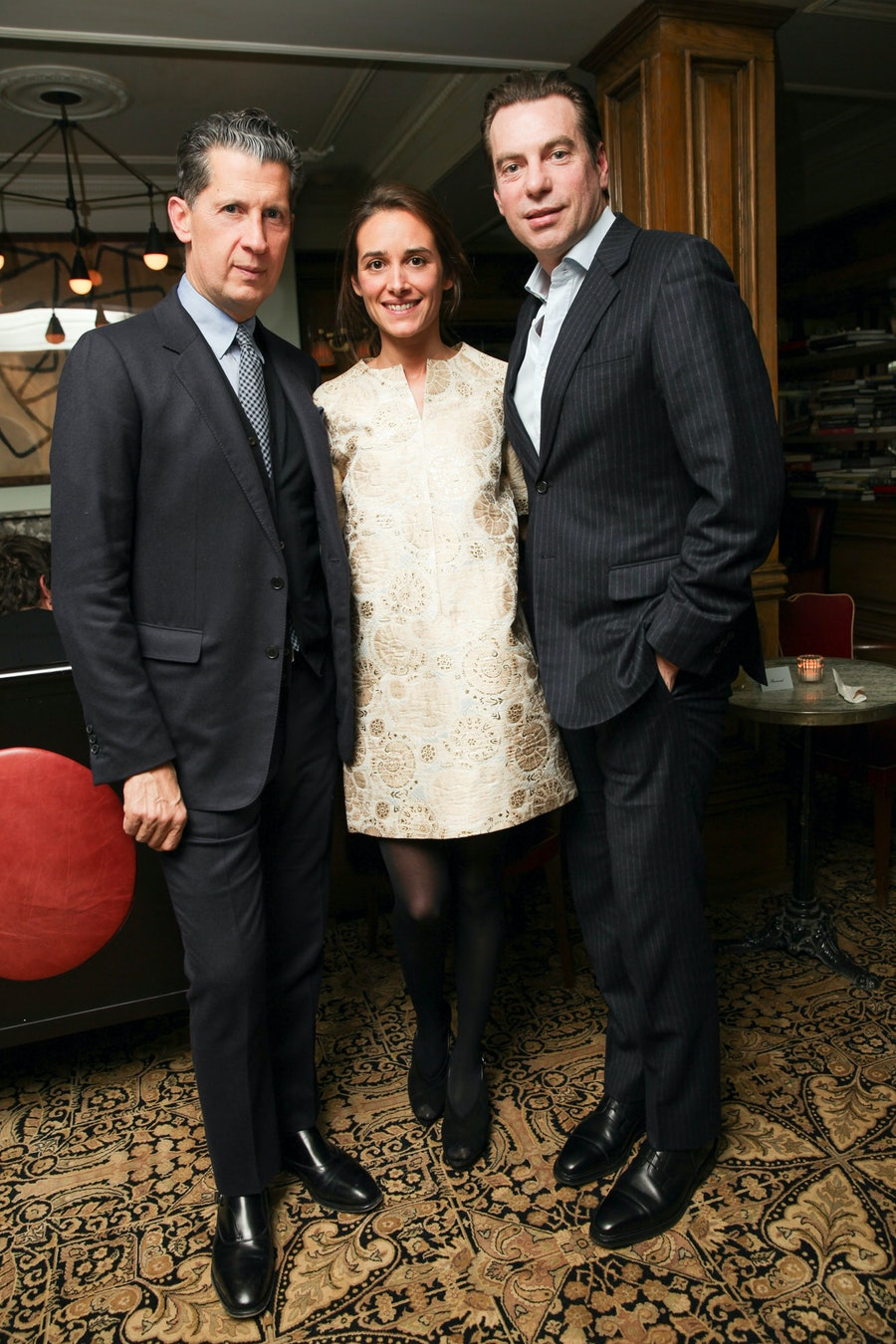 Stefano Tonchi, Ambra Medda, and David Maupin. Photo by BFAnyc.com.