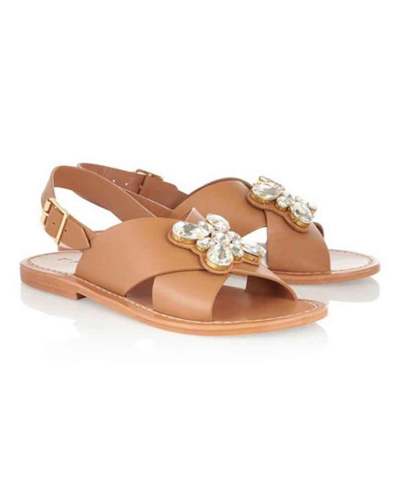 Marni crystal-embellished leather sandals