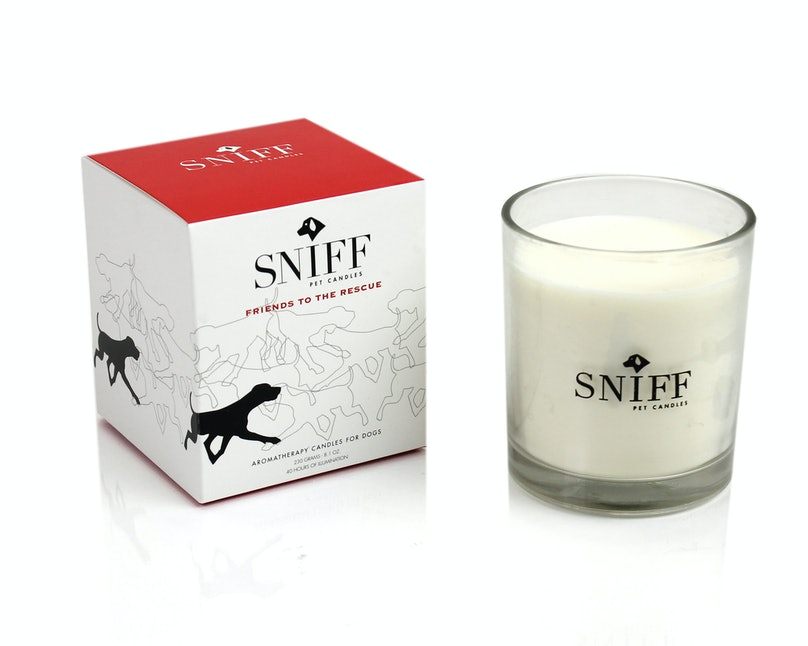 Sniff Pet Products Pet Candle, $24, sniffpetproducts.com.