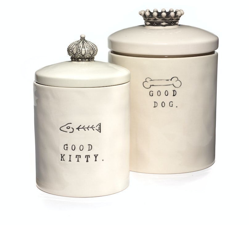 Rae Dunn for Magenta jars (from left) , $43 and $47, magenta-inc.com.