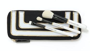 MAC Stroke of Midnight Brush Kit/Essentials, $50 (including five brushes), maccosmetics.com.