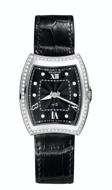 Bedat & Co. stainless steel and diamond watch, $7,700, Bergdorf Goodman.